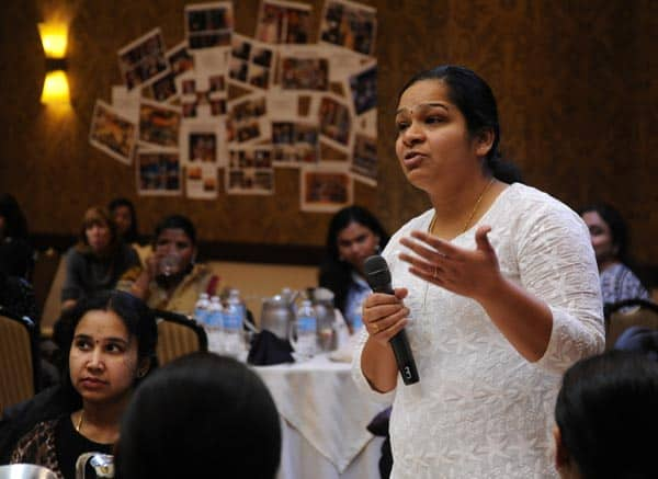Woman Speaks at Conference
